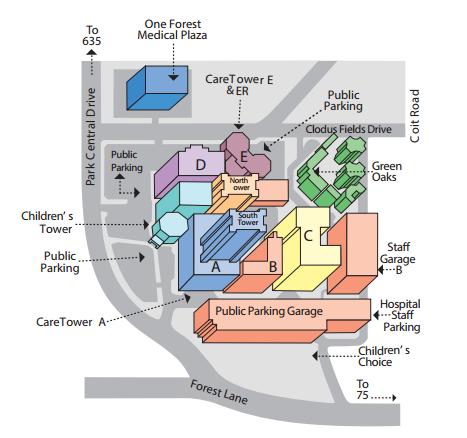 Medical City Dallas Map Parking instructions and Detailed driving directions | Allergy and